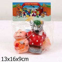 Набор игрушек для ванны Пфк игрушки Три поросёнка 16 см