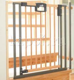 Ворота безопасности 80,5-88,5х81,5см Geuther Easylock Wood (натуральный/серебро)