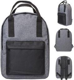 Рюкзак-сумка ACTION, городской, размер 38x27x12 см, мягкая спинка, серый с черным карманом, унисекс