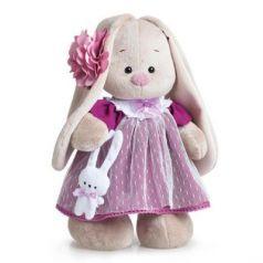 Мягкая игрушка заяц BUDI BASA Зайка Ми вишня пластик текстиль искусственный мех бежевый розовый 32 см StM-051