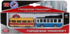 Тягач Технопарк ГОРОДСКОЙ ТРАНСПОРТ разноцветный SB-15-06-WB