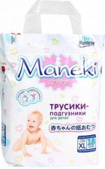 Подгузники-трусики Maneki Fantasy XL (12+кг) 18 шт