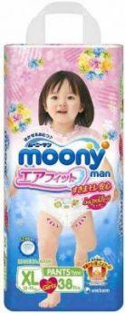 Трусики для девочек Moony XL (12-17 кг) 38 шт