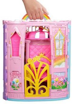 """Игровой набор Barbie (Mattel) """"Переносной радужный дворец и кукла"""""""
