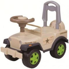 Каталка-машинка Наша Игрушка Шериф бежевый от 2 лет пластик 611747