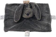 Мягкая игрушка кролик Nattou Doudou Lapidou плюш темно серый 26 см