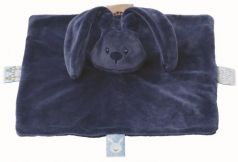 Мягкая игрушка кролик Nattou Doudou Lapidou плюш темно синий 26 см