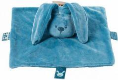 Мягкая игрушка кролик Nattou Doudou Lapidou плюш синий 26 см