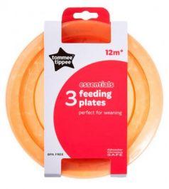 Тарелка Tommee Tippee Набор плоских тарелочек для начала кормления 3 шт оранжевый от 1 года