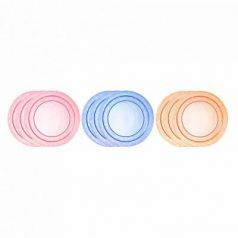 Тарелка Tommee Tippee Набор плоских тарелочек для начала кормления 3 шт синий от 1 года 00-0015516