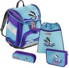 Ранец с наполнением Step by Step Touch2 Happy Dolphins 21 л фиолетовый голубой