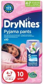 HUGGIES Трусики DryNights для девочек 4-7лет 10шт
