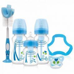 Набор из трех бутылочек противоколик. с широким горлышком, синих (2шт. - 270 мл. + 1шт. - 150 мл)