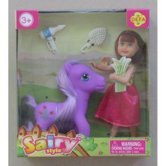 Малышка-кукла с лошадкой