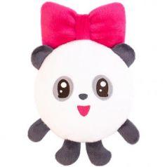 Мягкая игрушка-грелка панда МЯКИШИ Малышарики Пандочка плюш синтепух 25 см