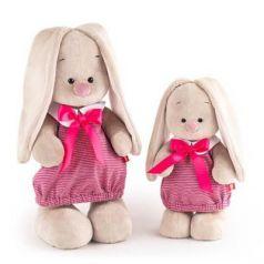 Мягкая игрушка BUDI BASA StS-257 Зайка Ми в платье в розовую полоску (малая)