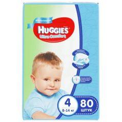 HUGGIES Подгузники Ultra Comfort Размер 4 8-14кг 80шт для мальчиков
