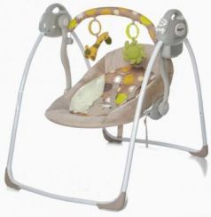 Электронные качели Baby Care Riva (коричневое)