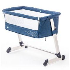 Приставная кроватка Nuovita Accanto (blu scuro lino)