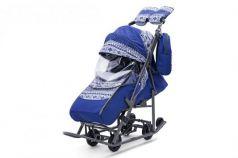 Санки-коляска  Скандинавия, цвет синий, Pikate