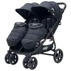 Коляска прогулочная для двоих детей Rant Biplane (black)