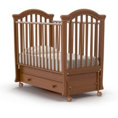 Кроватка с маятником Nuovita Perla Swing (noce scuro)