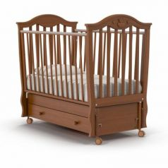 Кроватка с маятником Nuovita Sorriso Swing (noce scuro)