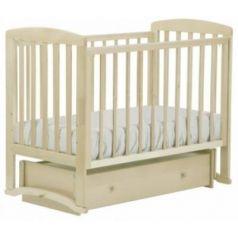Кроватка с маятником Лель Ромашка АБ16 (слоновая кость)