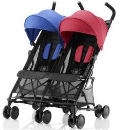 Прогулочная коляска для двоих детей Britax Holiday Double (red/blue mix)