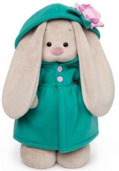 Мягкая игрушка BUDI BASA StS-238 Зайка Ми в изумрудном пальто с розовым цветочком 25см
