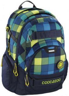 Школьный рюкзак светоотражающие материалы Coocazoo CarryLarry2: Lime District 30 л синий салатовый 00138739