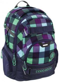 Школьный рюкзак светоотражающие материалы Coocazoo CarryLarry2: Green Purple District 30 л синий бирюзовый 00138740