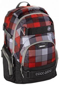 Школьный рюкзак светоотражающие материалы Coocazoo CarryLarry2: Red District 30 л серый красный 00129959