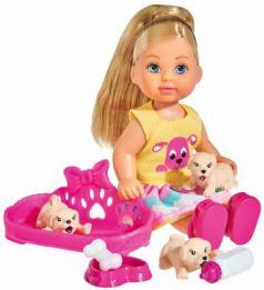 Кукла SIMBA Еви с собачками 12 см