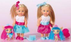 Кукла SIMBA Еви со стильной собачкой 12 см