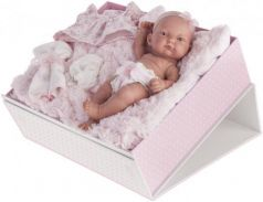 Кукла-младенец Карла в чемодане  роз. 26см