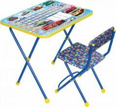 Комплект стол+стул Ника Познайка 2 Большие гонки