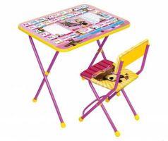 Комплект стол+стул Ника Познайка 2 Азбука 3 Маша и Медведь