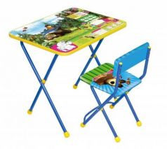 Комплект стол+стул Ника Познайка 2 Ловись рыбка Маша и Медведь