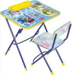 Комплект стол+стул Ника Умничка 3 Волшебный мир принцесс