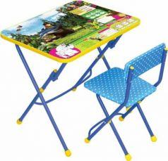 Комплект стол+стул Ника Умничка 1 Ловись рыбка Маша и Медведь