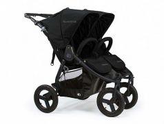 Коляска прогулочная для двоих детей Bumbleride Indie Twin (matte black)