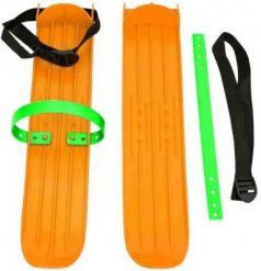 Мини-лыжи большие с ремнями Р-1 (оранжевый)