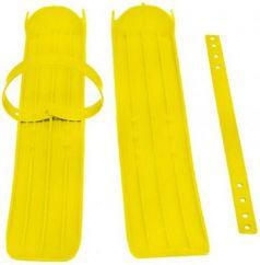 Мини-лыжи малые с ремнями Р-1 (жёлтый)