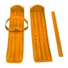 Мини-лыжи малые с ремнями Р-1 (оранжевый)