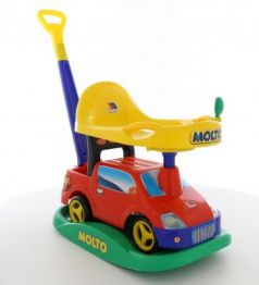 "Каталка-машинка Molto Автомобиль-каталка ""Пикап"" красный от 1 года пластик"