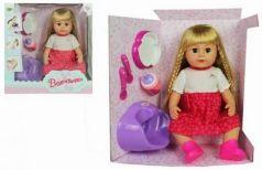 Кукла Валентинка 43см, аксесс. 5 предм., ходит на горшок, закрыв.глаза, ножки гнутся в коленях, кор.