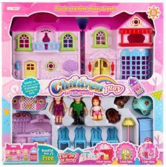 Дом для кукол, свет+звук, с мебелью и фигурками 8110B в кор. в кор.2*12шт