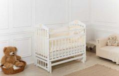 Кроватка Incanto Pali продольный маятник белый