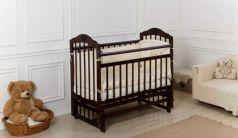 Кроватка Incanto Pali продольный маятник темный